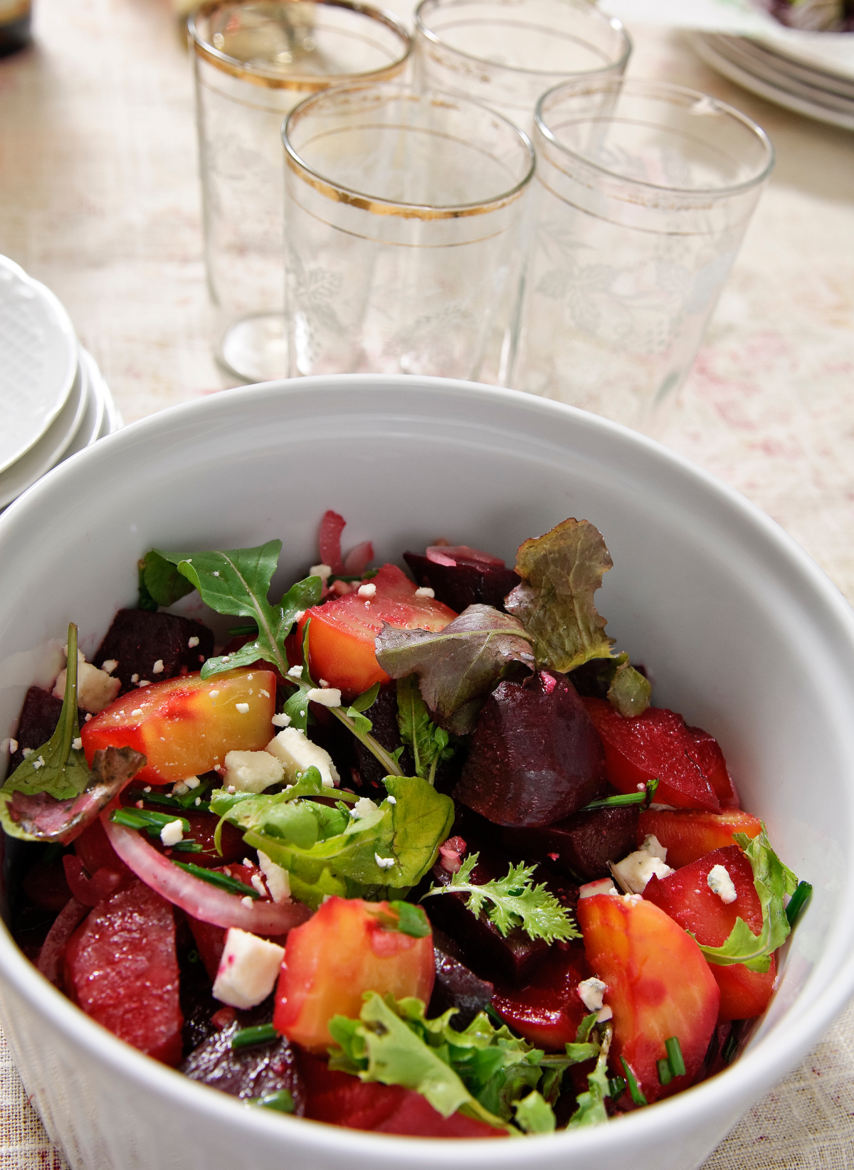Shave prep time off this easy French salad recipe by purchasing pre-cooked beets in the produce aisle of the supermarket. Photo by Richard Swearinger.
