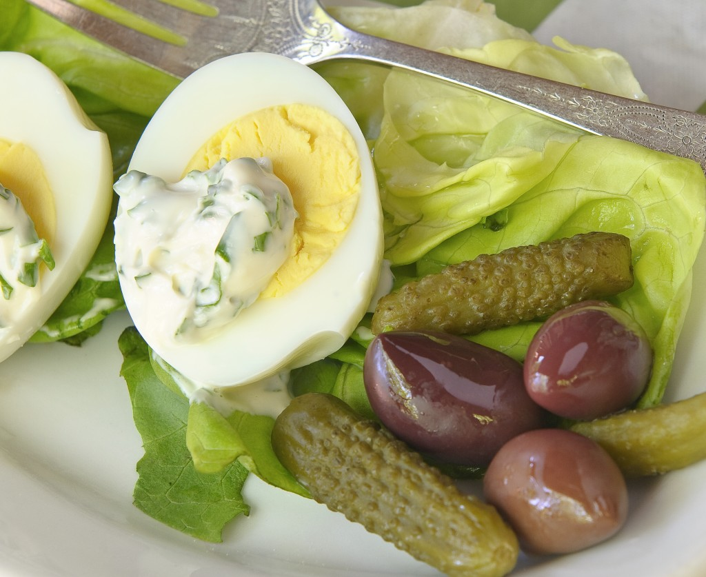 Oeufs Durs Mayonnaise--a simple and classic French first course.