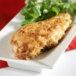 "Chicken Breasts with ""les cornflakes"" and Comté."