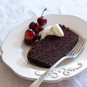 Chocolate-Cherry Pound Cake. You can substitute other in-season fruits ...