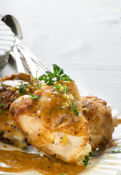 Chicken with 20 Cloves of Garlic. Photo by Richard Swearinger