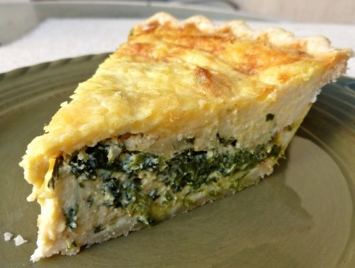 Bloggist Martha McKinnon shot this lovely photo of my Spinach Quiche for her Simple Nourished Living blog.