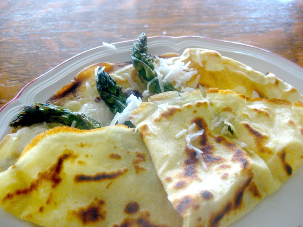 See my French recipe for asparagus crêpes.