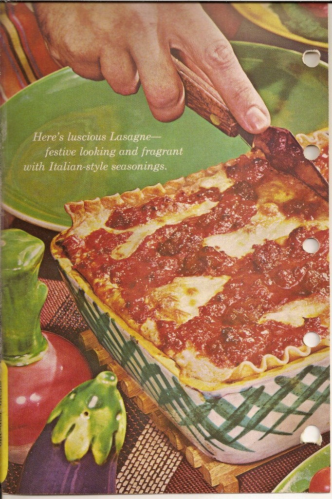 "... Book. The best ""church basement"" Italian-American lasagna. Ever"