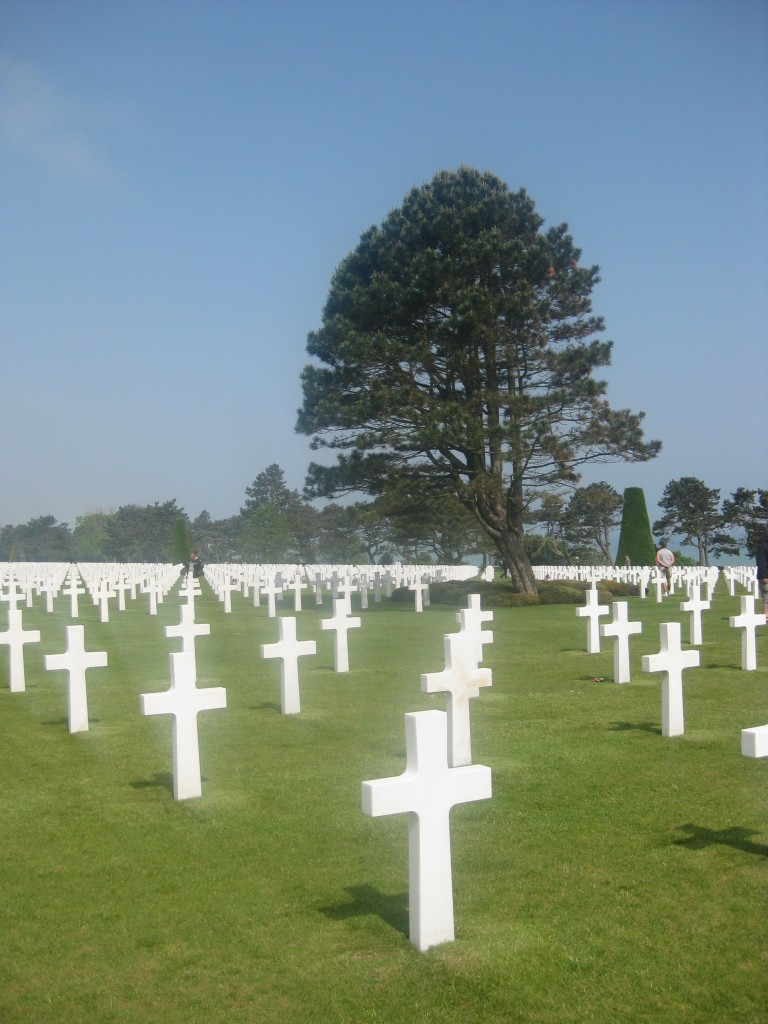 The American Cemetery in Normandy.