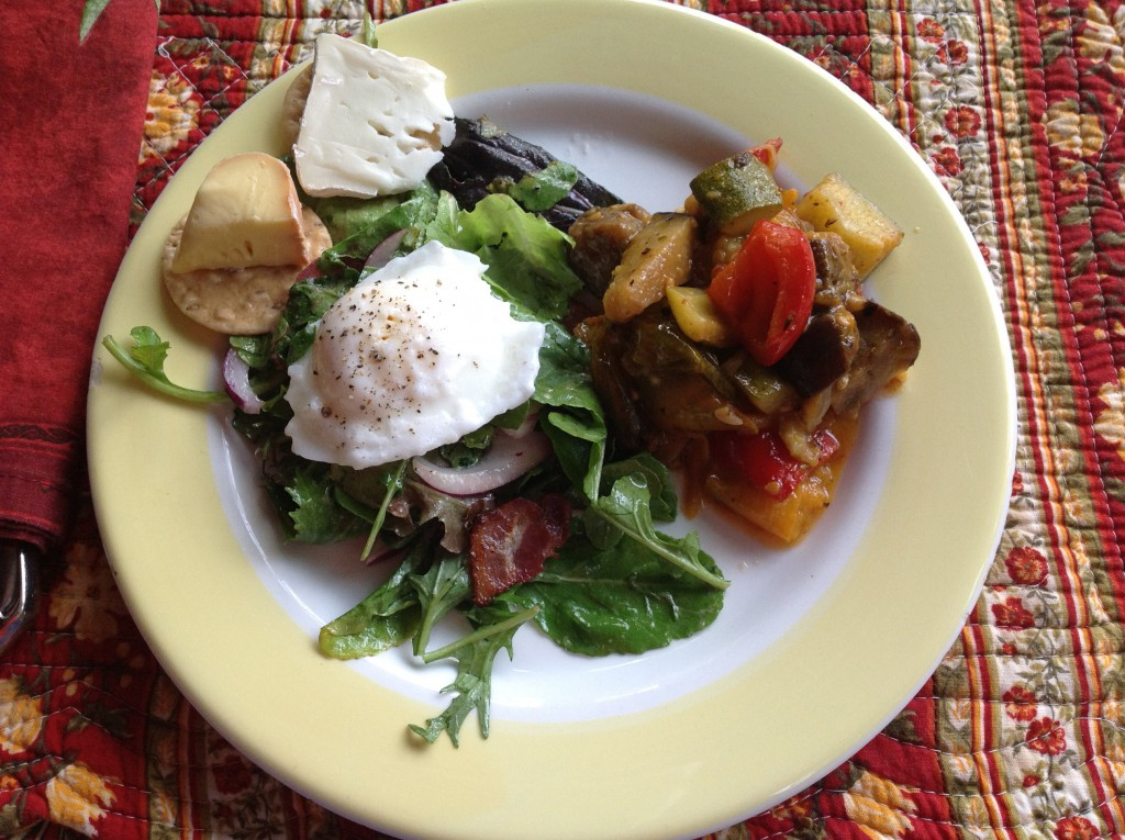 J'adore poached egg salads, and ratatouille is a super summer go-along.