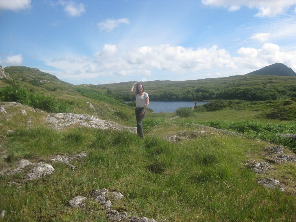 "Me, somewhere in in the Connemara (before I put on those five ""Irish Potato Pounds"")."