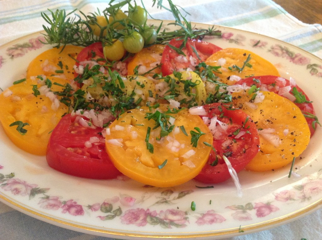 A Simple French Tomato Salad Recipe
