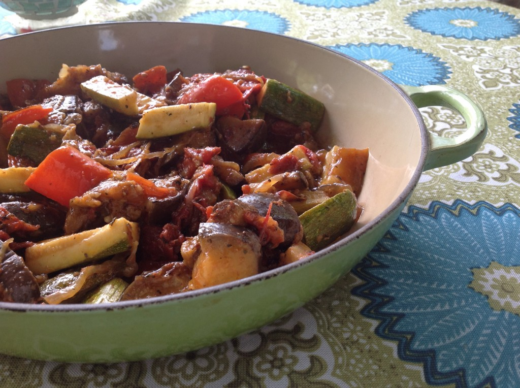 The Le Creuset Braiser is great for Ratatouille.