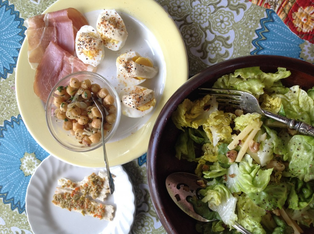 Oeufs Mayo with my Comté-Walnut Salad