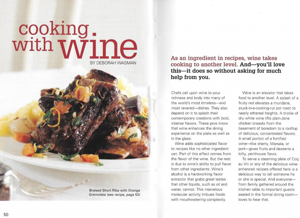 Cooking with Wine. The article in which this recipe appeared. I served as the editor on this publication.