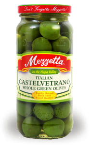 Castelvetrano olives. They're easy to find. I promise.