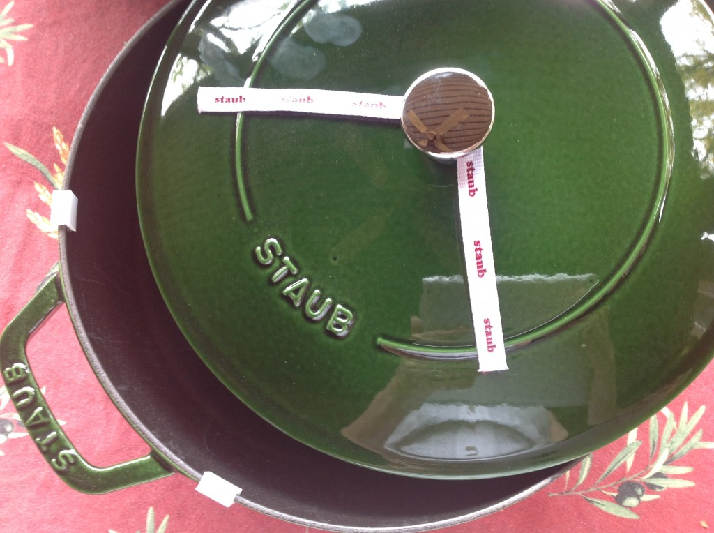 The Staub Braiser (aka 4-quart Sauté pan...but believe me, iit's a braiser).