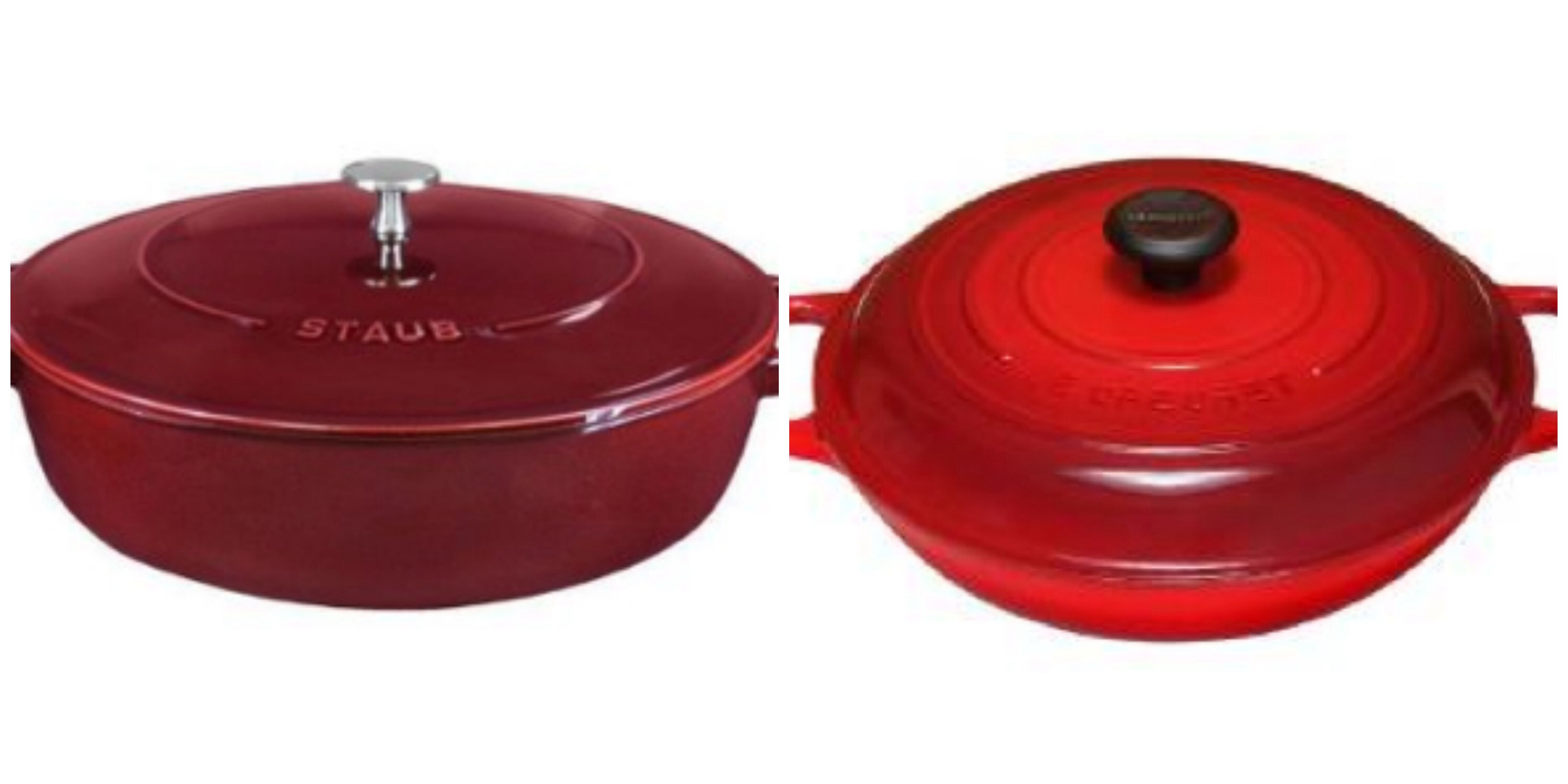i love the rich color and glossy shine of the staub braiser left - Staub Dutch Oven
