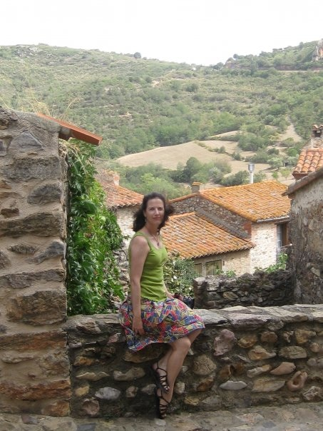 Me, in the Rousillon region of France, a stone's throw from Spain.