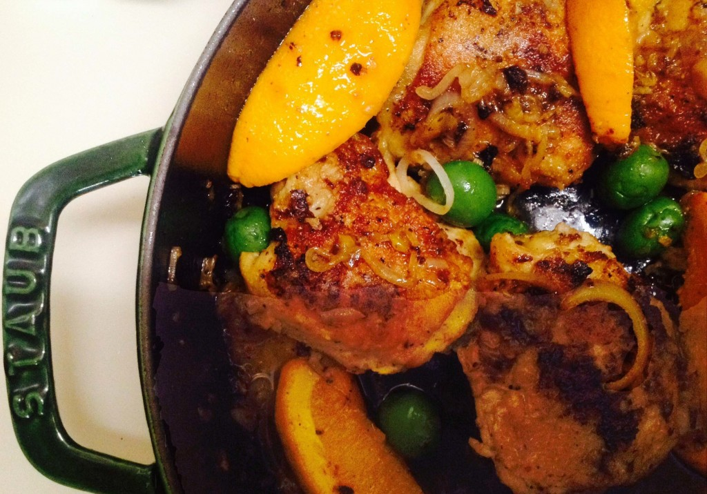 Easy Spanish Chicken with Sherry, Oranges, and Olives