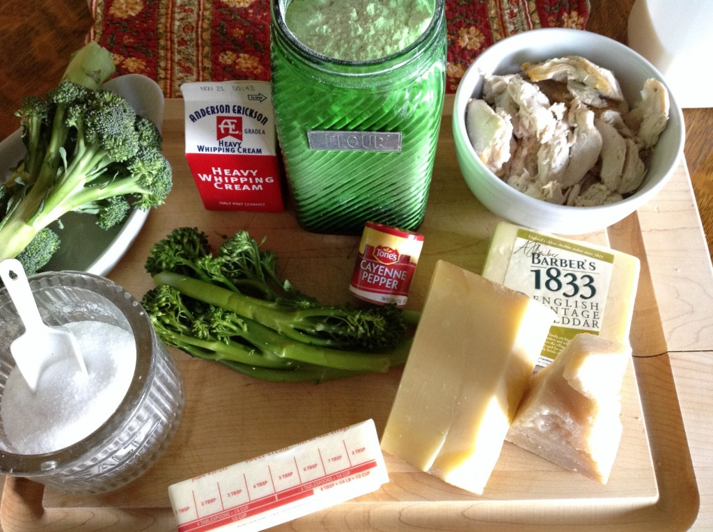 Ingredients for Turkey Divan.