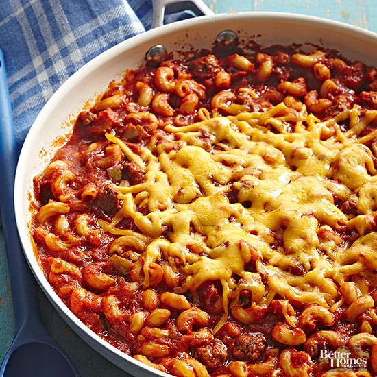 """This isn't Goulash, but I grew up thinking it was. If you want a recipe for this style of """"Goulash,"""" you'll do no better than the bhg.com recipe for Chili-Mac Skillet."""