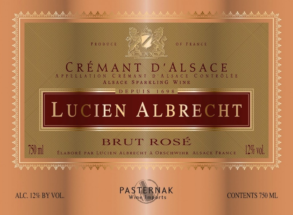 Lucien Albrecht Crémant d'Alsace Rosé. French elegance for around $20 a bottle.