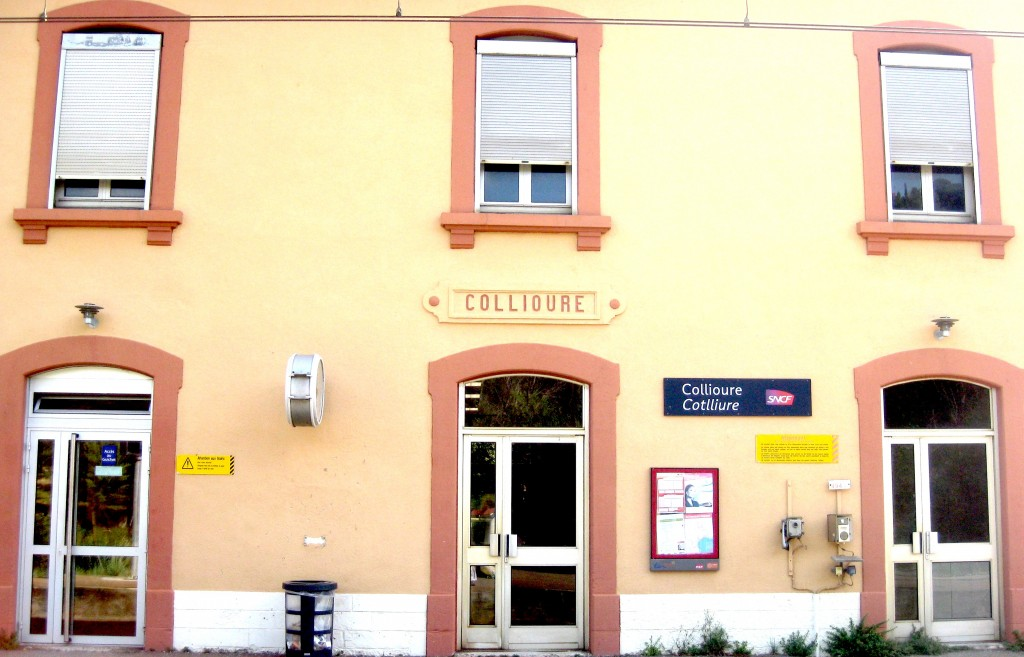 The train station in my little town, Collioure, France.