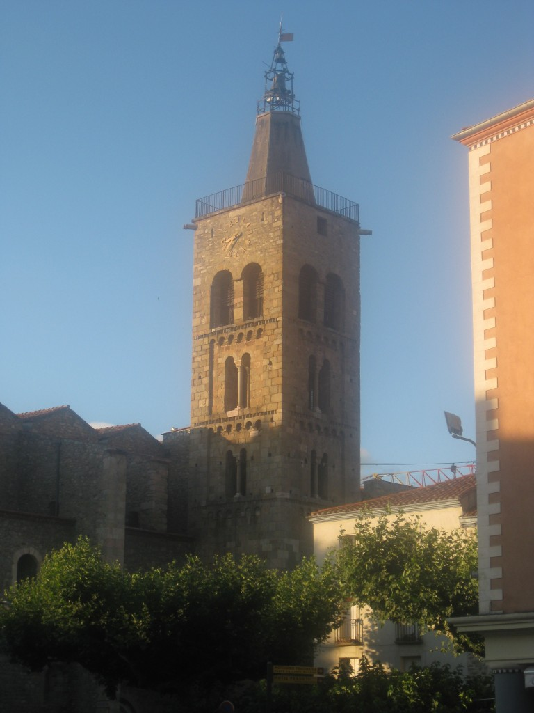 Medieval church tower in Prades.
