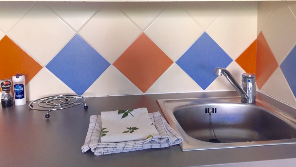At first, I thought the tile in my kitchen was kind of a goofy color.....