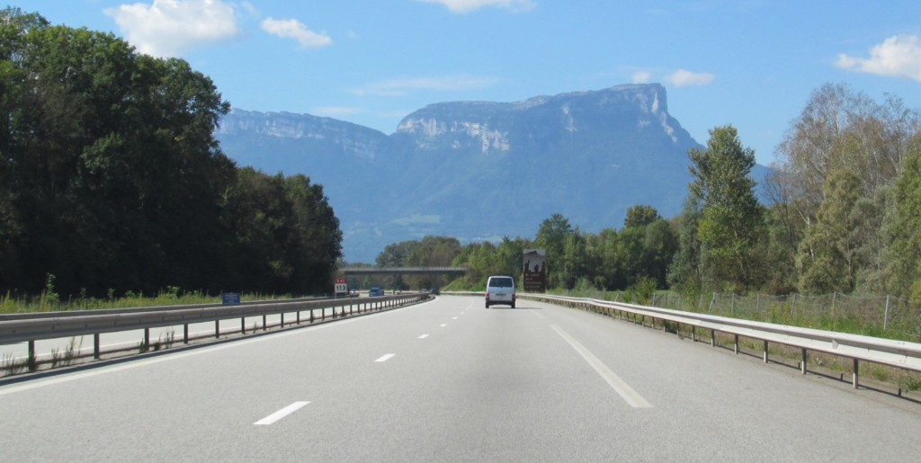The upside of the French railway strike: Driving the autoroute through Provence.