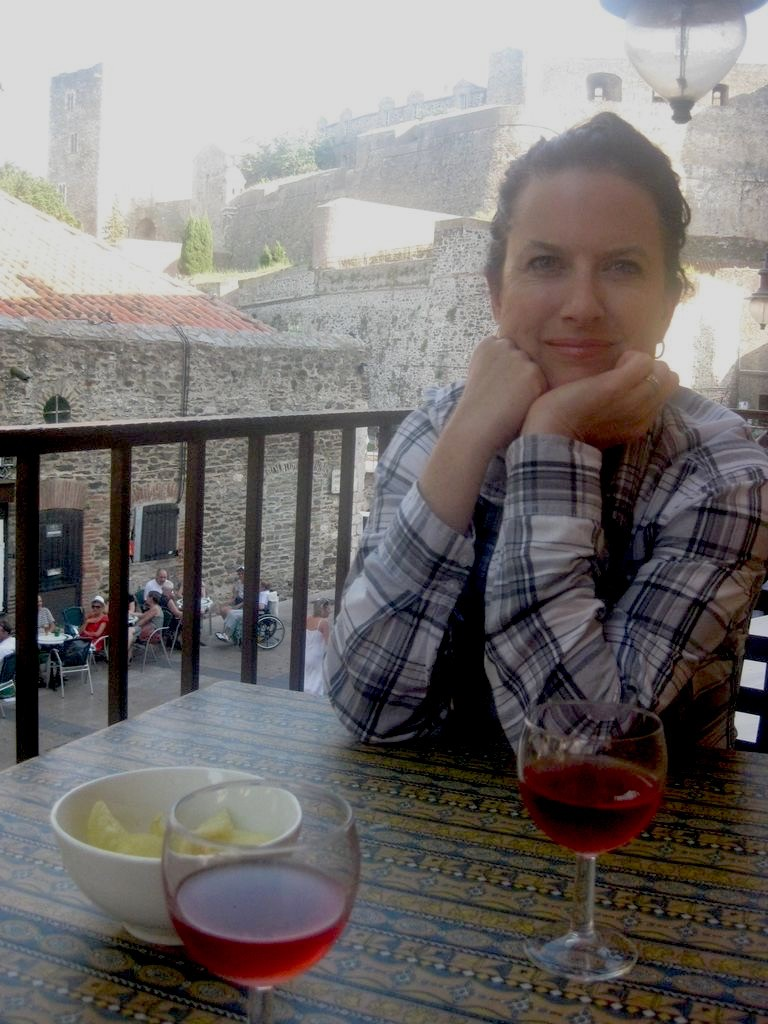 Me. After a late-afternoon swim on my balcony in Collioure, during that magical time of the day called the apéro.