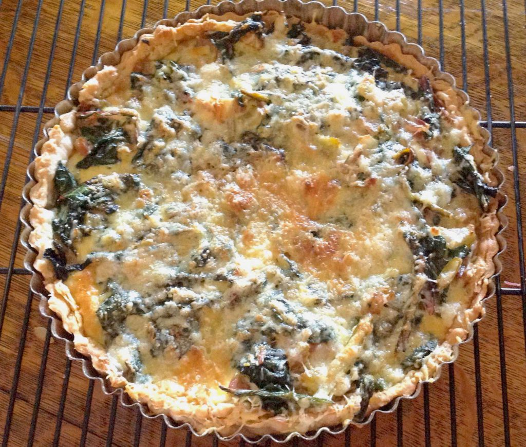 Every time I make my Swiss Chard Tart (above), I think of cozy old Sospel.