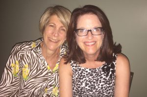 Janet Fletcher (left) and me at the Comté USA dinner. Can you tell how how happy I am to meet her?
