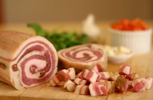 Yes! I use La Quercia Pancetta when I have it around. But I'll also use bacon, which I always have around.