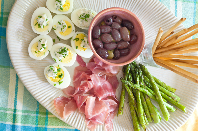 A great asparagus appetizer recipe. You don't really even need a recipe, of course.
