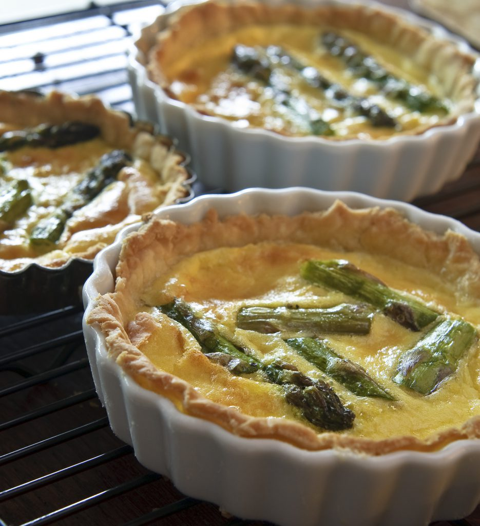 French Asparagus Quiche Tartlets Recipe